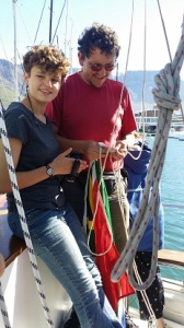 Frans and Marike hoisting the South African Flag