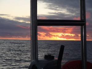 Sunset as seen from Shang Du, anchored in James Bay St. Helena.