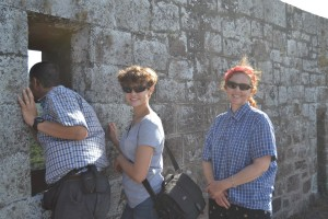 Marike, Frans and I at High Knoll Fort