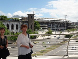 Soccer stadium! Oh, and my mom ;) ♡