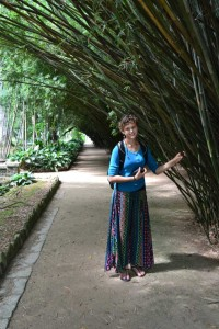 We felt too embarrassed to take pictures of half dressed pregnant ladies, so here is Marike in one of the settings they liked. The bamboo forest.