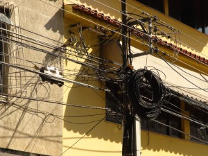 Electricity is very visible in Rio. This is not even the worst configuration.