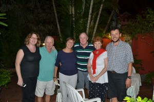 Lovely people and a lovely dinner with Chris and Moira and Bill and Pat.