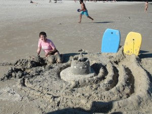 Our awesome sand castle