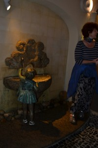 My personal favourite: Little toddler girl reaching for a drinking fountain.