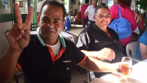 Adelio, in Salvador. He fixed our engine and then took us all out to lunch. He has become a real friend.