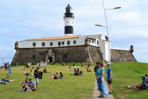 The Barra Fort and Lighthouse.
