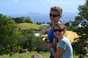 On the hill overlooking the Atlantic ocean.