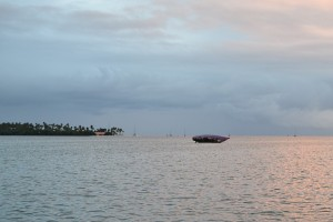 This hull was sitting on the sandbank right behind us, minding it's own business, and not being excessively productive