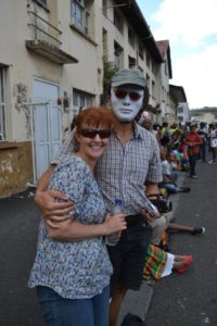 Everybody was wearing these white masks, and they looked so good that we had to get one for our familly