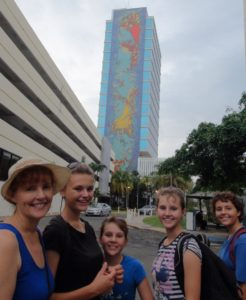 Here we are exploring the city of San Juan. Just like Karin J said - artwork everywhere. We did not walk too far this day and it was ALWAYS better to walk in the late afternoon to avoid the debilitating heat.