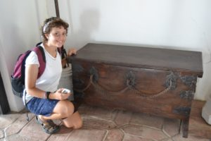 Karin J really fancied this chest. It has three keyholes and three distinct people would each hold a different key. In order to open it, all three persons needed to use their keys.