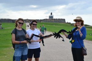 This photo was taken in front of Fort El Morro. We try to take pictures of the Night Fury Soft Toys at strategic places to show thatthey really did travel the world. We are trying our best to show that they are actually flying.